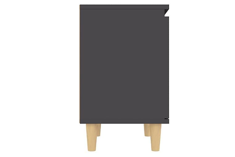 Sängbord med massiva ben 2 st grå 40x30x50 cm - Grå - Möbler - Bord - Sängbord & nattduksbord