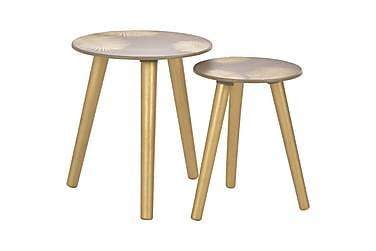 Satsbord 2 st 40x45 cm/30x40 cm guld MDF