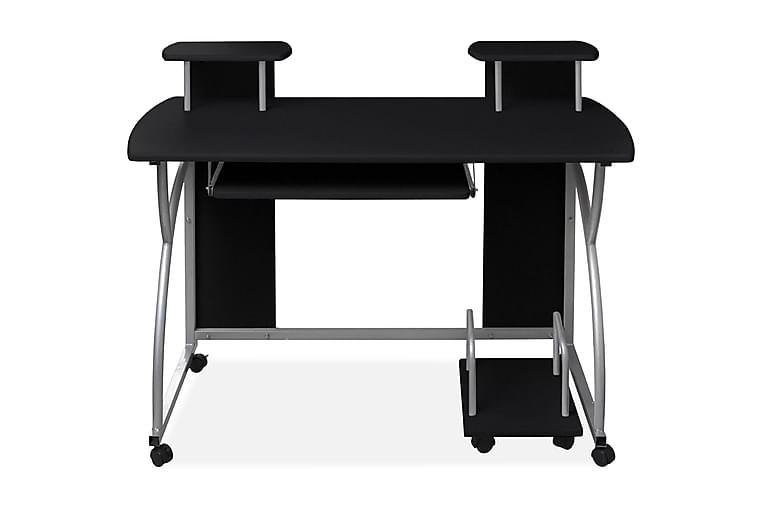Datorskrivbord med utdragbar hylla för tangentbord svart - Svart - Möbler - Bord - Skrivbord