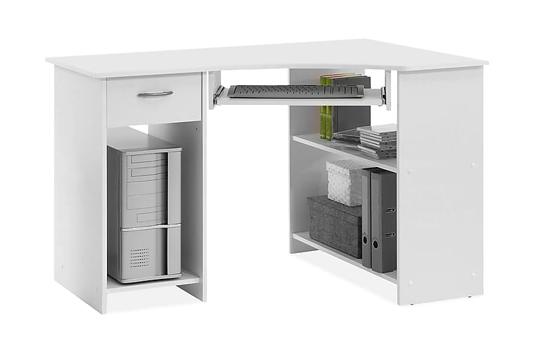 Hörnskrivbord Pineco 118 cm - Vit - Möbler - Bord - Skrivbord