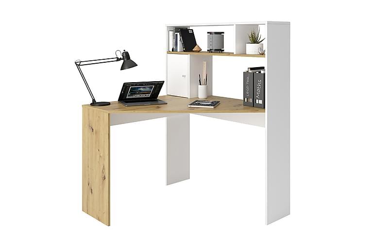 Hörnskrivbord Trungle 100 cm - Brun Vit - Möbler - Bord - Skrivbord