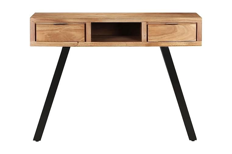 Skrivbord 110x50x75 cm massivt akaciaträ med levande kant - Möbler - Bord - Skrivbord