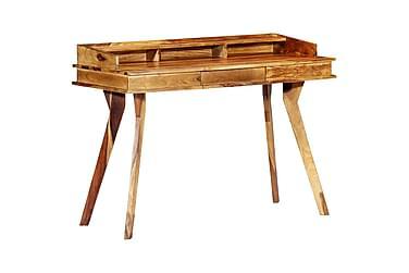 Skrivbord 115x50x85 cm massivt sheshamträ