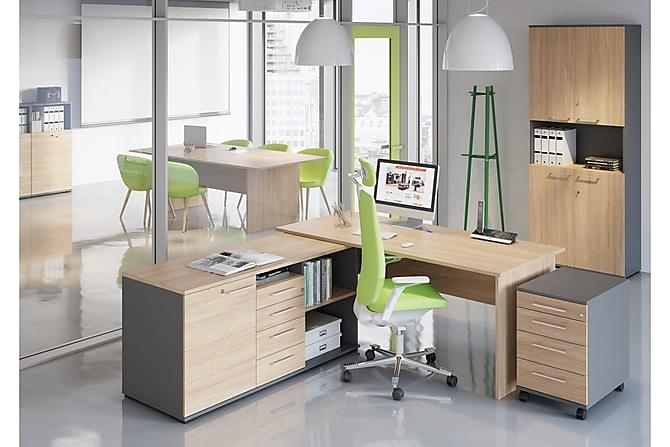 Skrivbord Carroll 180 cm - Ek|Grå - Möbler - Bord - Skrivbord