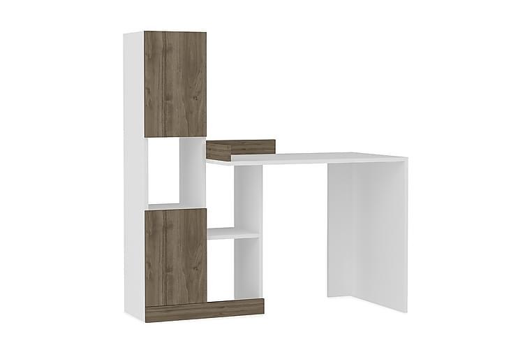 Skrivbord Guray 147 cm - Valnöt|Vit - Möbler - Bord - Skrivbord
