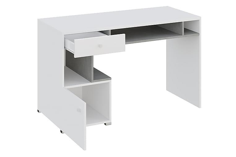 Skrivbord Indora 125 cm - Vit/Grå - Möbler - Bord - Skrivbord