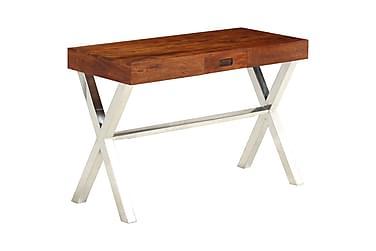 Skrivbord massivt akaciaträ med sheshamfinish 110x50x76 cm