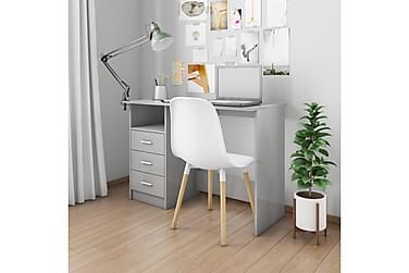 Skrivbord med lådor grå högglans 100x50x76 cm spånskiva