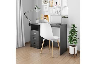 Skrivbord med lådor svart 100x50x76 cm spånskiva