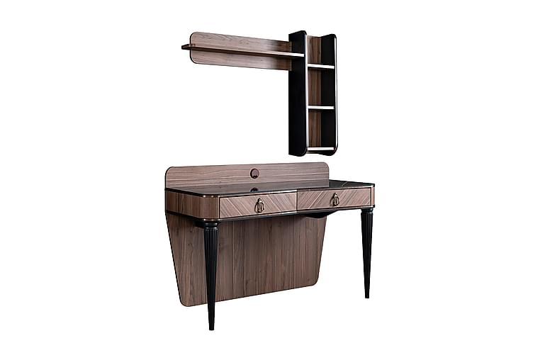 Skrivbord Sipahi 131 cm - Natur/Svart - Möbler - Bord - Skrivbord