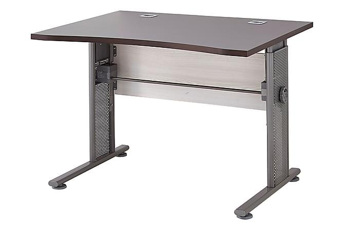 Skrivbord Troian 100 cm - Brun|Grå|Metall - Möbler - Bord - Skrivbord
