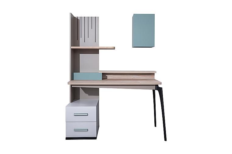 Skrivbord Tycroes 132 cm - Natur/Vit - Möbler - Bord - Skrivbord