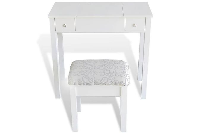 Sminkbord m. pall & 1 uppfällbar spegel vit - Möbler - Bord - Sminkbord & toalettbord