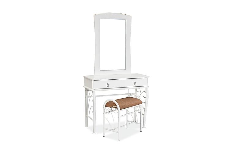 Sminkbord med Pall Lezoux 90 cm - Vit - Möbler - Bord - Sminkbord & toalettbord