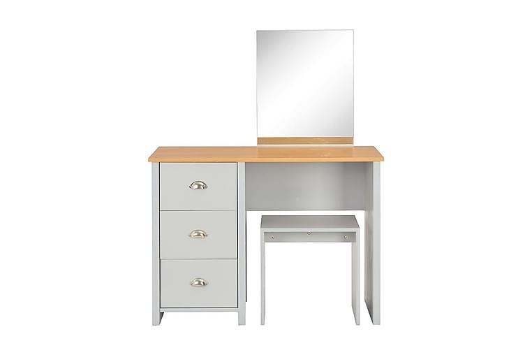 Sminkbord med spegel och pall grå 104x45x131 cm - Grå - Möbler - Bord - Sminkbord & toalettbord
