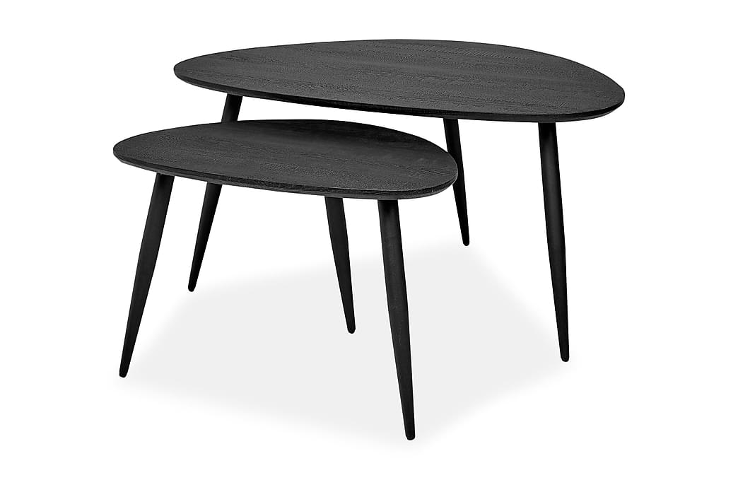 Satsbord Valerius 90/60 cm - Svart - Möbler - Bord - Soffbord
