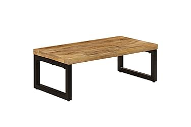 Soffbord 110x50x35 cm massivt mangoträ & stål