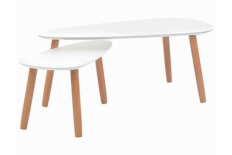 Soffbord 2 st massiv furu vit - Vit - Möbler - Bord - Soffbord