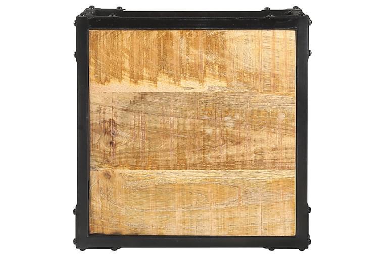 Soffbord 40x40x36 cm massivt grovt mangoträ - Brun - Möbler - Bord - Soffbord