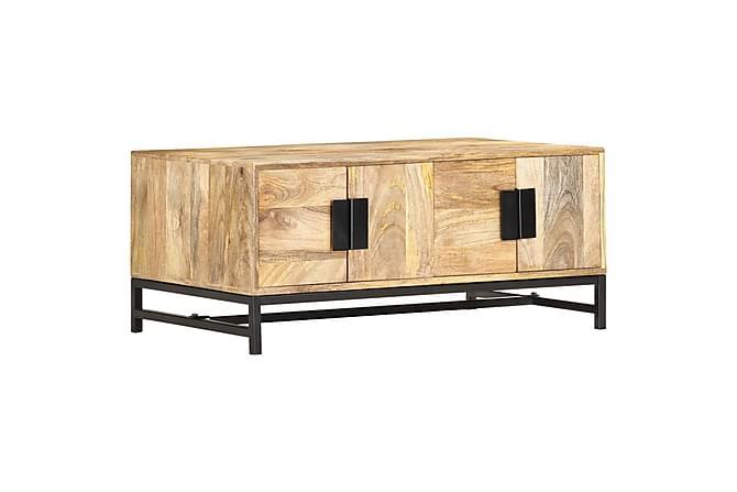 Soffbord 90x55x40 cm massivt mangoträ - Brun - Möbler - Bord - Soffbord