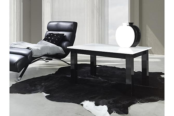 Soffbord Alpinia 102x62x52 cm - Vit Högglans|Svart - Möbler - Bord - Soffbord