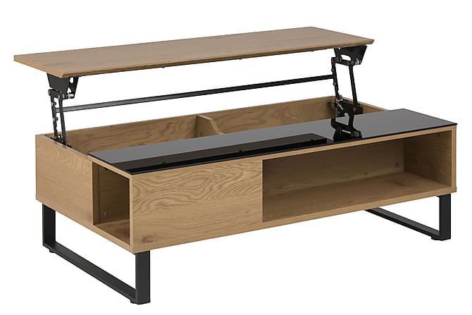 Soffbord Azalea 110 cm Ekfolie/Svart - Glas - Möbler - Bord - Soffbord