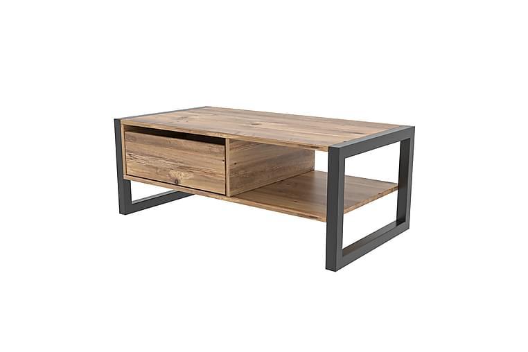 Soffbord Gari 105 cm - Trä|Natur|Svart - Möbler - Bord - Soffbord