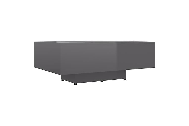 Soffbord grå högglans 85x55x31 cm spånskiva - Grå - Möbler - Bord - Soffbord