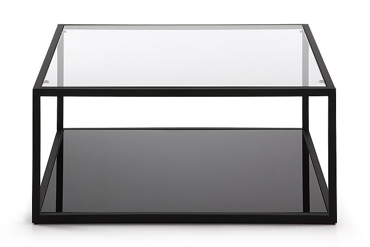 Soffbord Greenhill 80 cm - Glas|Svart - Möbler - Bord - Soffbord