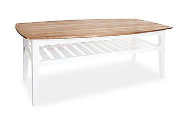 Soffbord Grenå 130 cm Ovalt Ek/Vit