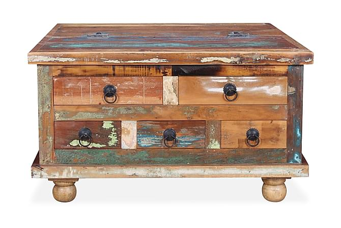 Soffbord i återvunnet trä 70x70x38 cm - Flerfärgad - Möbler - Bord - Soffbord