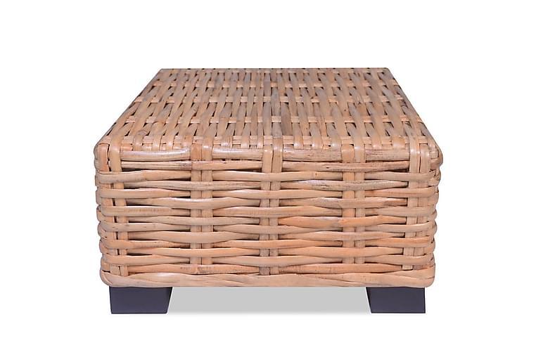 Soffbord i naturlig rotting 45x45x30 cm - Brun - Möbler - Bord - Soffbord