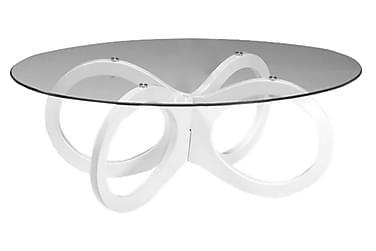 Soffbord Laholm 120 cm Ovalt Glas/Vit