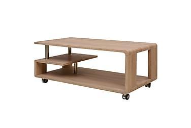 Soffbord Linde med Hjul + Hylla 110x55 cm