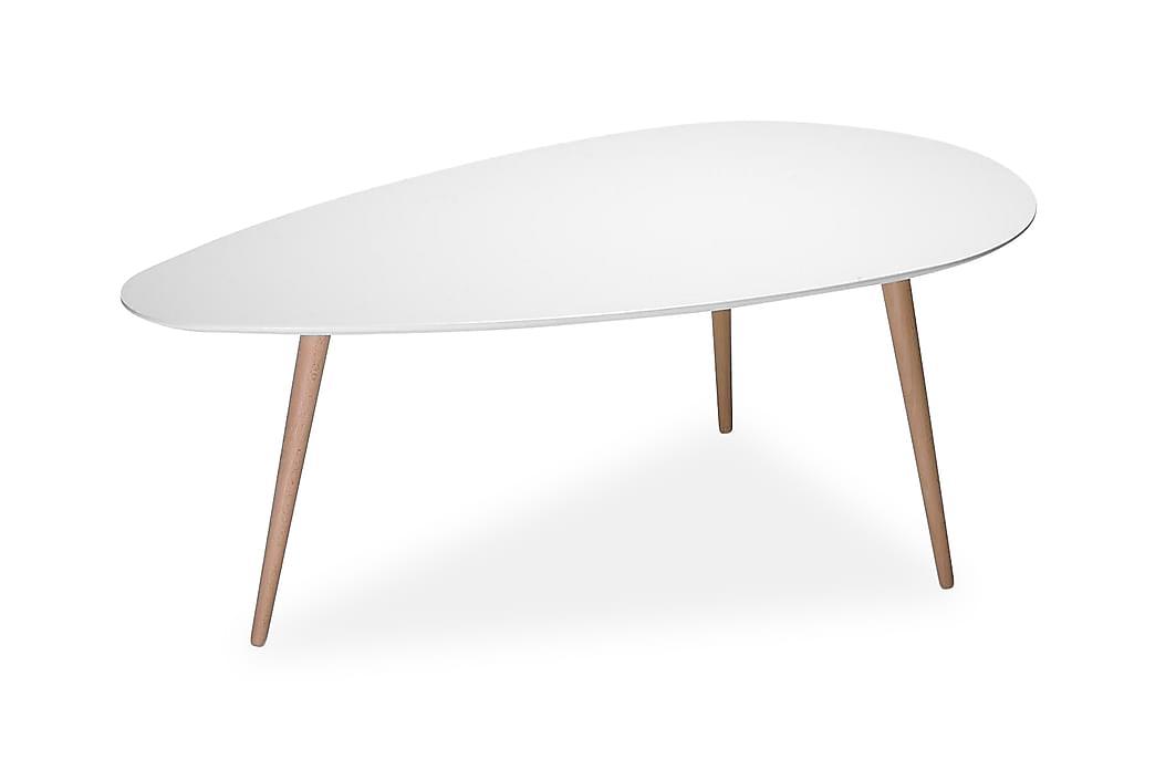 Soffbord Maiara 116 cm Ovalt - Vit Trä - Möbler - Bord - Soffbord