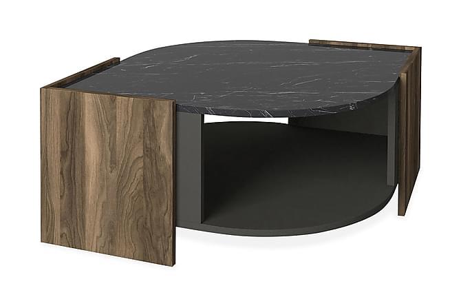 Soffbord Mathon 75 cm - Valnöt Grå Svart - Möbler - Bord - Soffbord