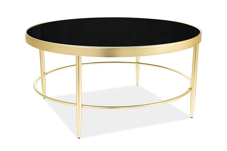 Soffbord Minice 82 cm Runt - Glas/Svart/Guld - Möbler - Bord - Soffbord