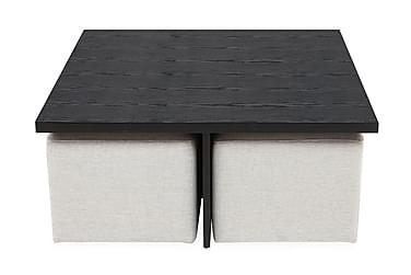 Soffbord Oliver 100 cm med 4 Pallar