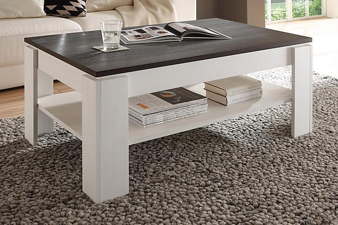 Soffbord Rifallet 110 cm - Vit|Mörkgrå - Möbler - Bord - Soffbord