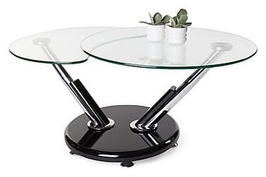 Soffbord Sintra 110 cm Ovalt Glas/Krom