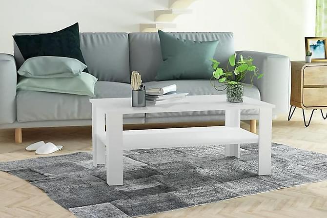 Soffbord spånskiva 100x59x42 cm vit - Vit - Möbler - Bord - Soffbord