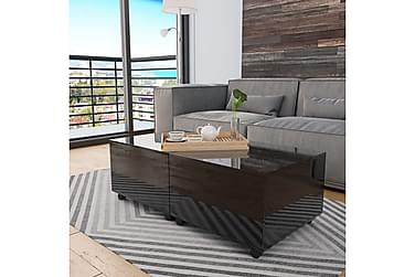 Soffbord svart högglans 120x60x35 cm