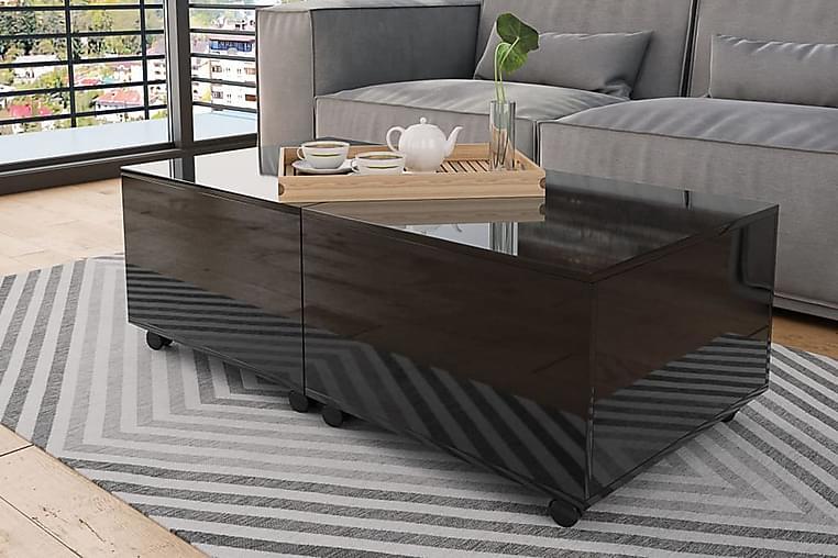 Soffbord svart högglans 120x60x35 cm - Svart - Möbler - Bord - Soffbord