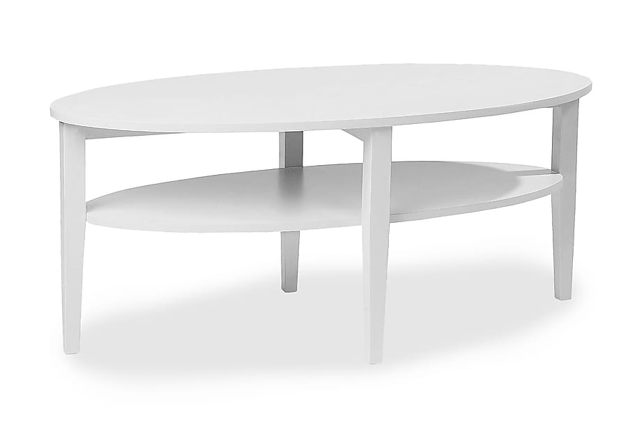 Soffbord Svedjan 120 cm Ovalt Vit
