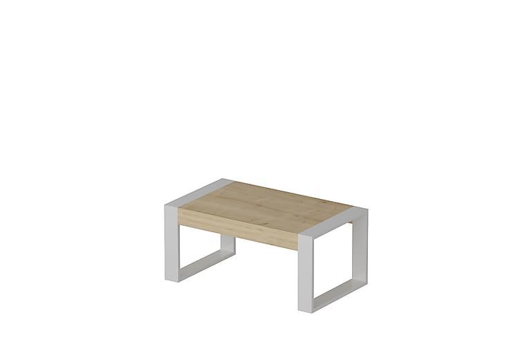 Soffbord Taraja 90 cm - Ek|Vit - Möbler - Bord - Soffbord