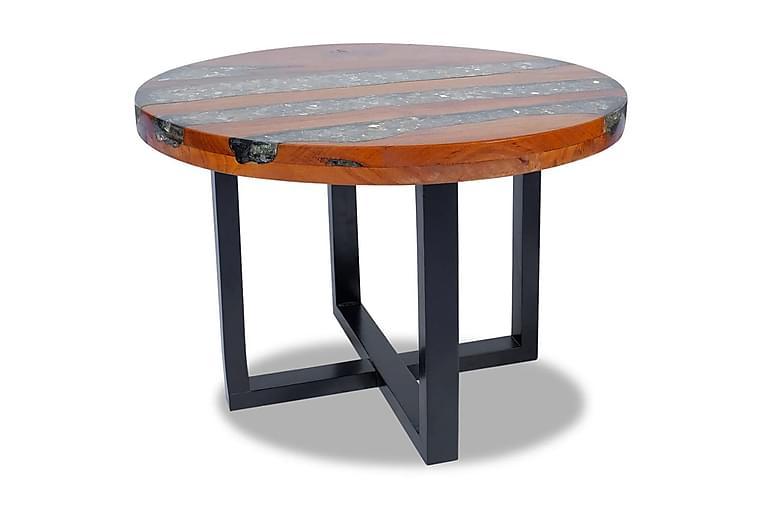 Soffbord teakträ harts 60 cm - Brun - Möbler - Bord - Soffbord