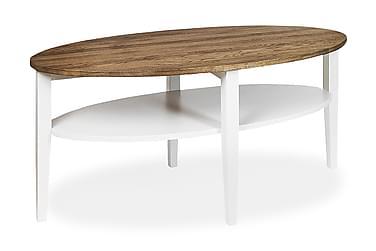 Soffbord Tranås 120 cm Ovalt Ek/Vit