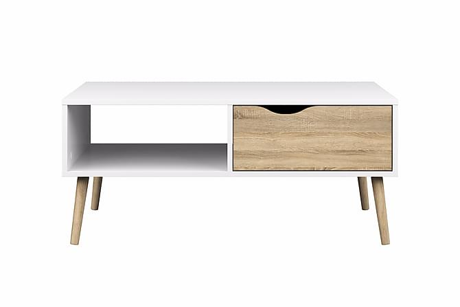 Soffbord Vasiliki 99 cm - Vit|Ek - Möbler - Bord - Soffbord