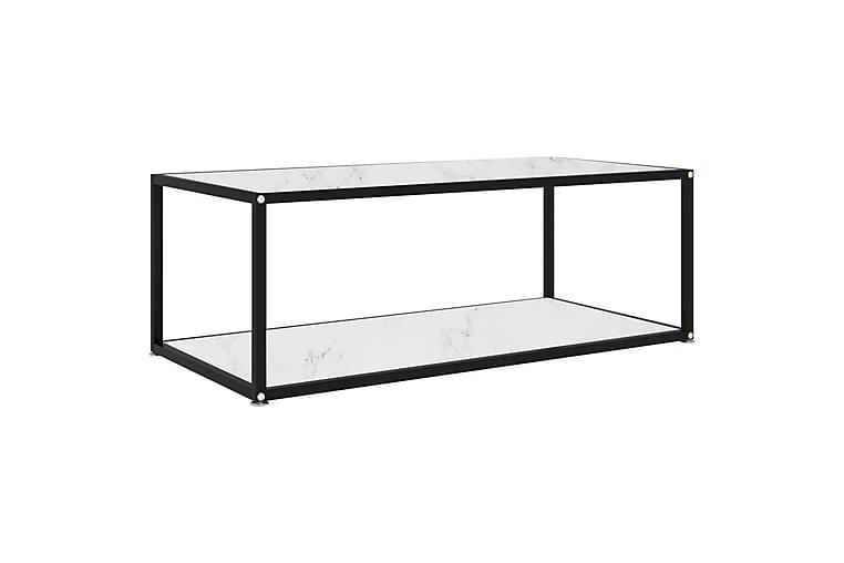 Soffbord vit 100x50x35 cm härdat glas - Vit - Möbler - Bord - Soffbord