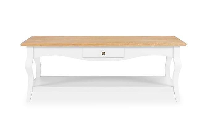 Soffbord vit 110x60x40 cm MDF - Vit - Möbler - Bord - Soffbord